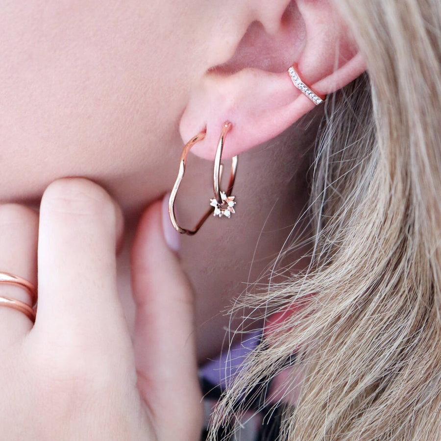 Geometric Jewelled Ear Cuff