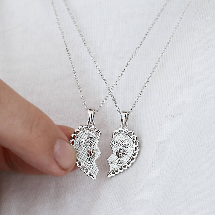 'Te Amo' Set Of Two Friendship Necklaces