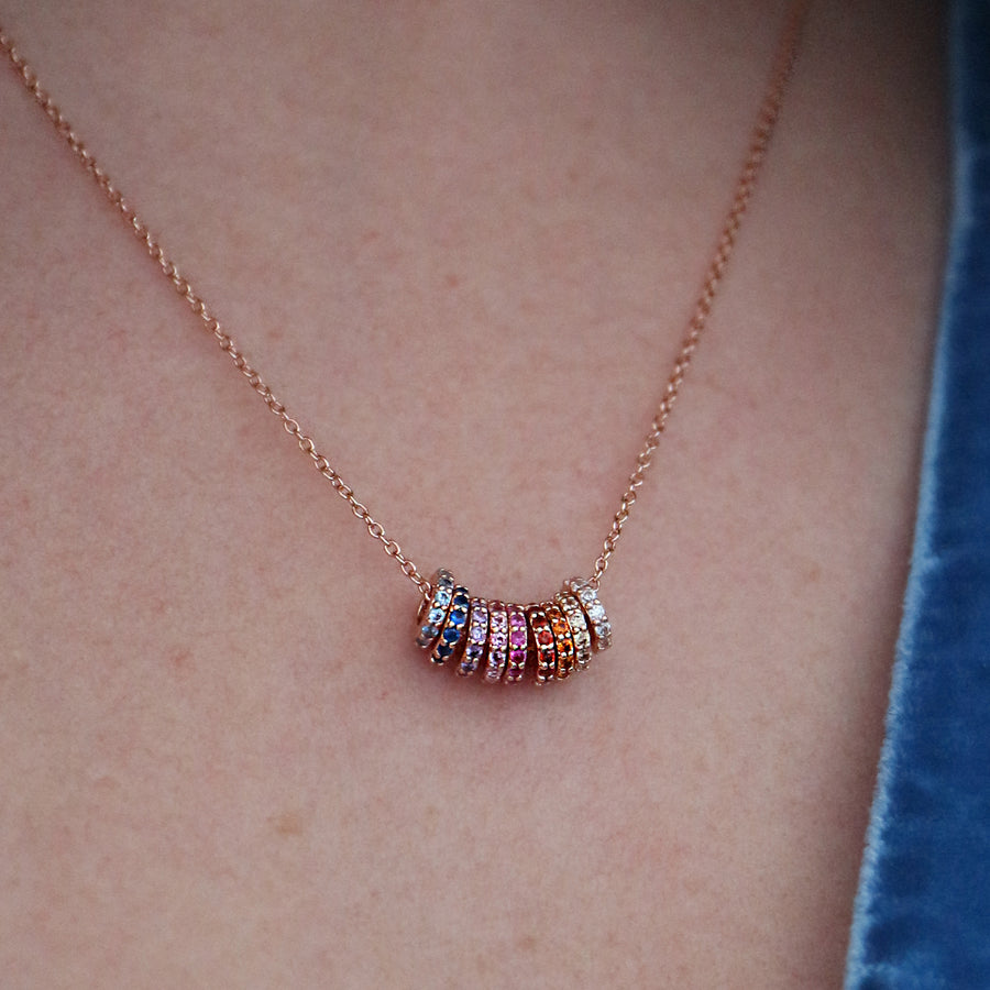 Rainbow Discs Necklace