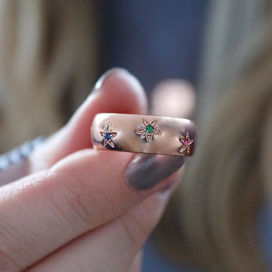 Rainbow Star Ring