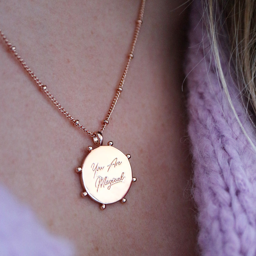 'You Are Magical' Coin Necklace