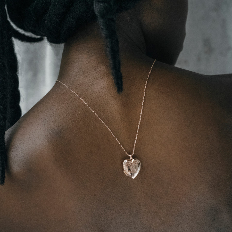 'You & Me' Heart Locket Necklace