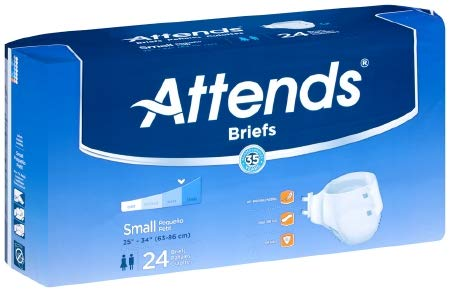 15153104 Adult Incontinent Brief Attends Tab Closure Small Disposable Heavy Absorbency