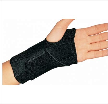 24703000 Wrist Splint Cinch-Lock Neoprene Right Hand Black One Size Fits Most