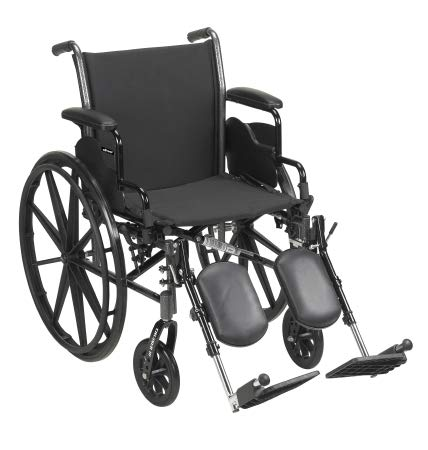 31874201 Lightweight Wheelchair McKesson Dual Axle Flip Back, Padded, Removable Arm Style Mag Wheel Black 18 Inch Seat Width 300 lbs. Weight Capacity