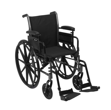31624201 Lightweight Wheelchair McKesson Dual Axle Flip Back, Padded, Removable Arm Style Mag Wheel Black 16 Inch Seat Width 300 lbs. Weight Capacity