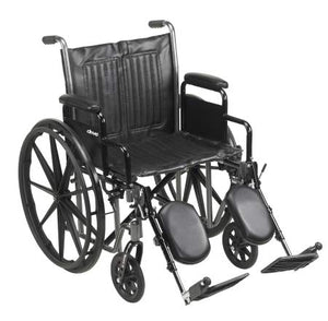 14624201 Wheelchair McKesson Padded, Removable Arm Style Composite Wheel Black 20 Inch Seat Width 350 lbs. Weight Capacity