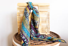 Load image into Gallery viewer, Blue Floral Hair Scarf - Shop Floresa Trendy Women's Clothing