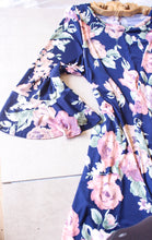 Load image into Gallery viewer, Navy Floral Dress - Shop Floresa Trendy Women's Clothing