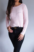 Load image into Gallery viewer, Bella Pink Knit Top - Shop Floresa Trendy Women's Clothing