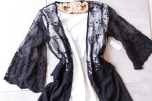 Load image into Gallery viewer, All Black Lace Cardigan - Shop Floresa Trendy Women's Clothing