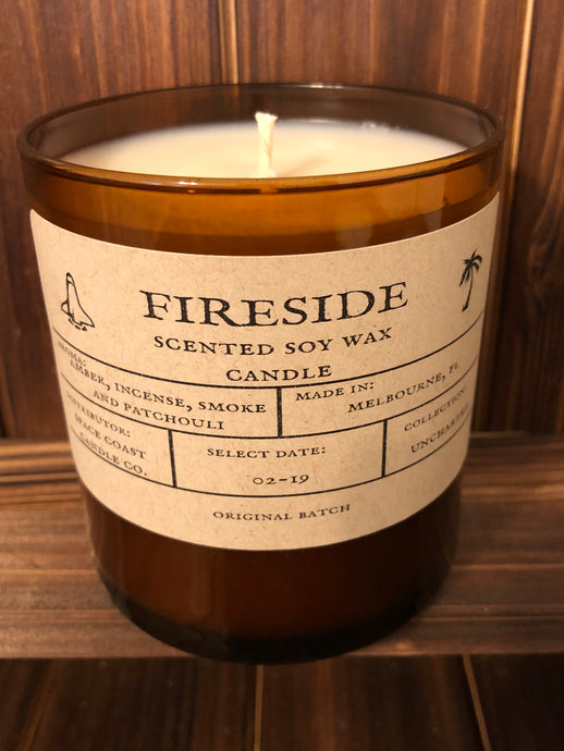 Fireside 8 oz Soy Candle -Uncharted Collection