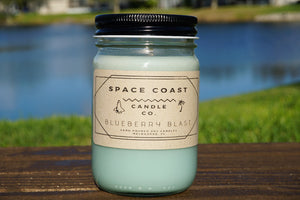 Blueberry Blast - 10 oz Soy Candle (Jar) - Space Coast Candle Co.