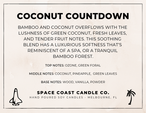 Coconut Countdown - 10 oz Soy Candle (Jar) - Space Coast Candle Co.