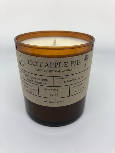 Hot Apple Pie - 10 oz Soy Candle - Space Coast Candle Co.