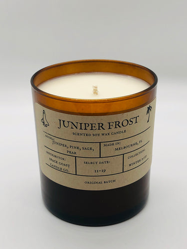 Juniper Frost 10 oz Soy Candle - Winter Collection - Space Coast Candle Co.