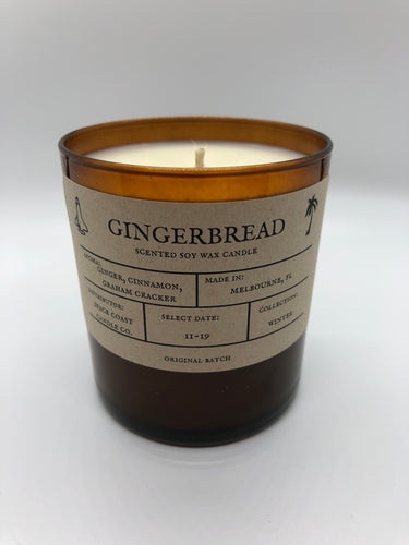 Gingerbread 10 oz Soy Candle - Winter Collection