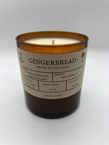 Gingerbread 10 oz Soy Candle - Winter Collection - Space Coast Candle Co.