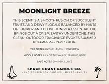 Load image into Gallery viewer, Moonlight Breeze - 10 oz Soy Candle (Jar) - Space Coast Candle Co.