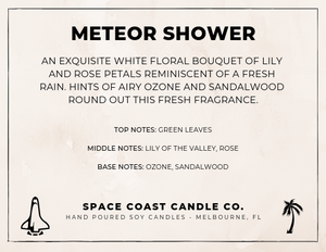 Meteor Shower - 10 oz Soy Candle (Jar) - Space Coast Candle Co.