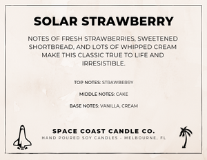 Solar Strawberry - Soy Wax Melts - Space Coast Candle Co.