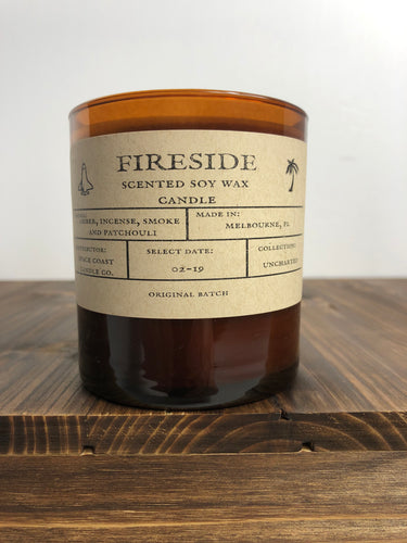 Fireside 10 oz Soy Candle -Uncharted Collection - Space Coast Candle Co.
