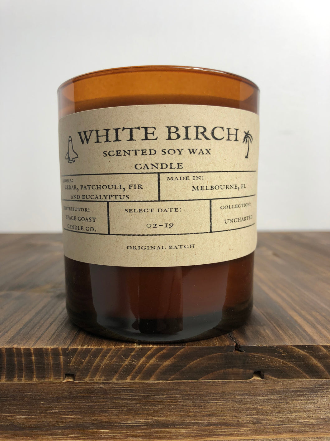 White Birch 10 oz Soy Candle - Uncharted Collection - Space Coast Candle Co.