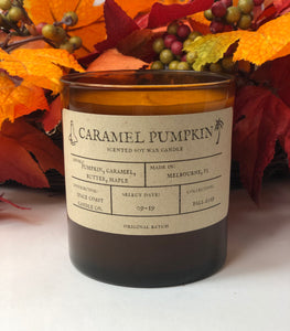 Caramel Pumpkin - 10 oz Soy Candle - Space Coast Candle Co.