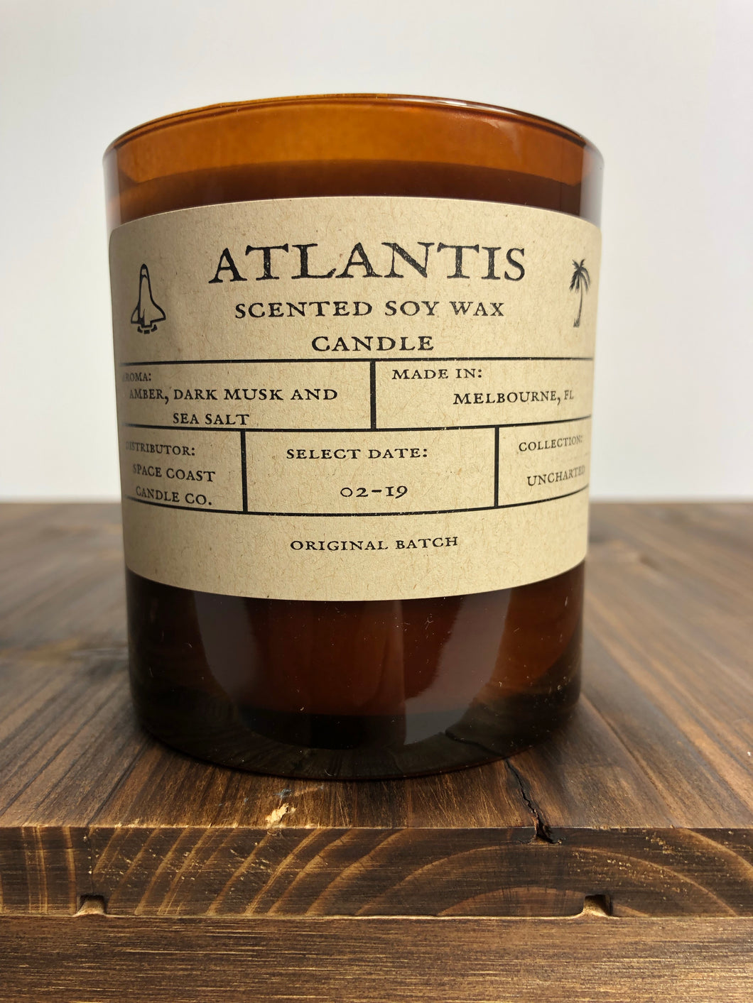 Atlantis 10 oz Soy Candle - Uncharted Collection - Space Coast Candle Co.
