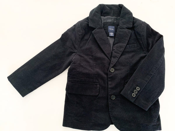 Baby Gap black velour blazer size 4Y