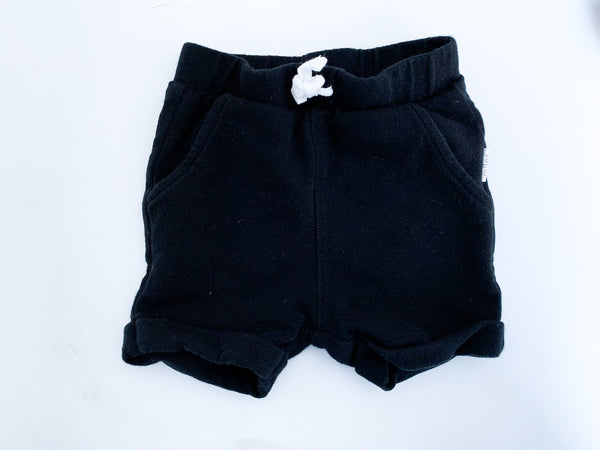 Miles Baby black soft sweat shorts size 3 months