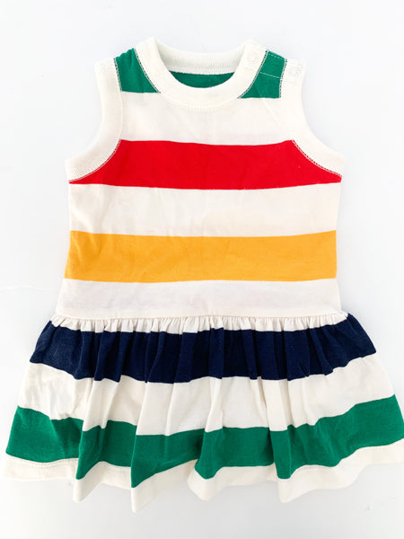 HBC stripe tank peplum dress (0-3 months)