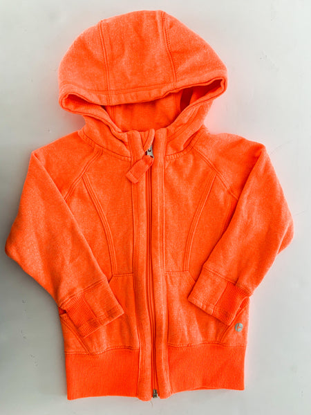 90 degrees neon orange zip up hood (size 3)