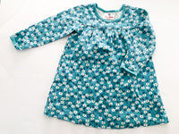 Hanna Andersson turquoise floral print dress(size 3)
