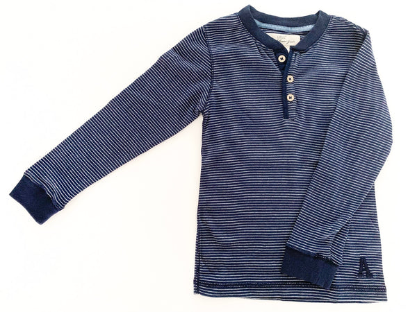 H&M navy & grey stripe long sleeve