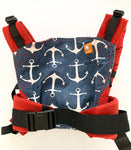 Tula red & navy with anchors print baby carrier size one size