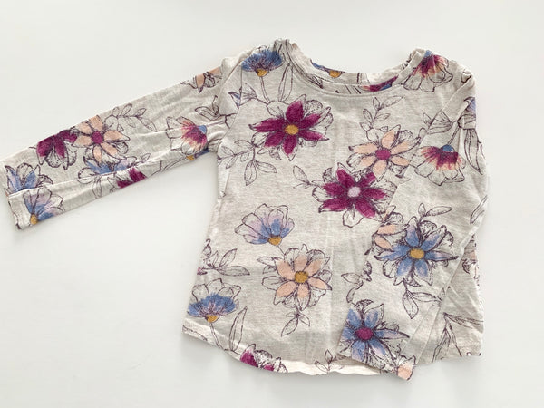 Old Navy cream LS with floral print