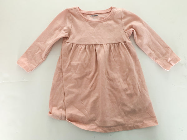 Old Navy pink with sparkle long sleeve peplum shirt size 6-12 months