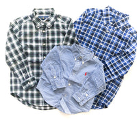 Ralph Lauren Blue plaid dress shirt