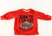 "Carters ""born to explore"" orange LS shirt  (6 months)"