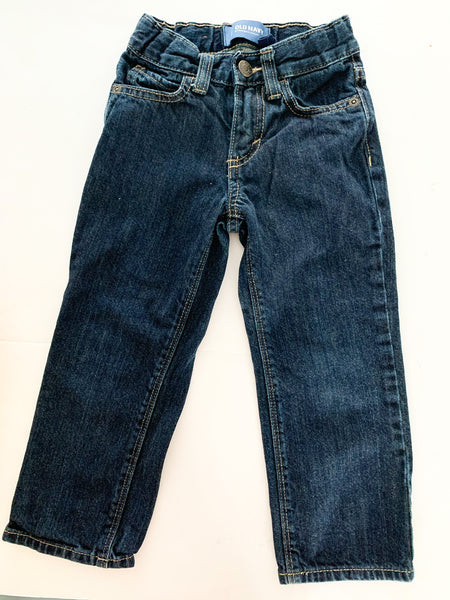 Old Navy dark denim straight denim jeans size 3T