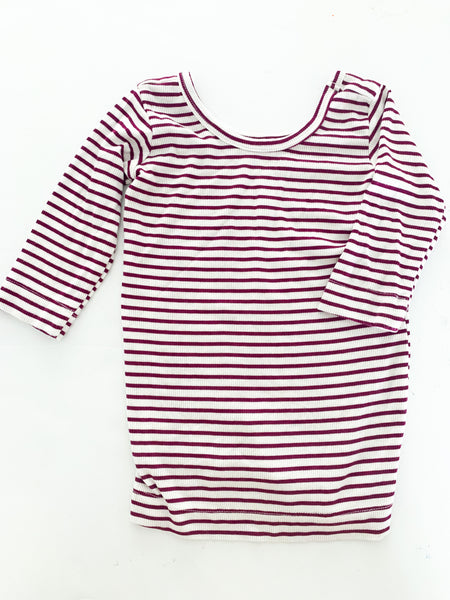 Childhoods purple & white ribbed  LS shirt  ( size 5)