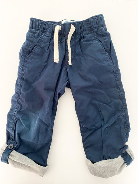 Old Navy cotton pants with drawstring and foldable hem size 3T