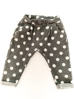 Zara grey pants with white polka dots