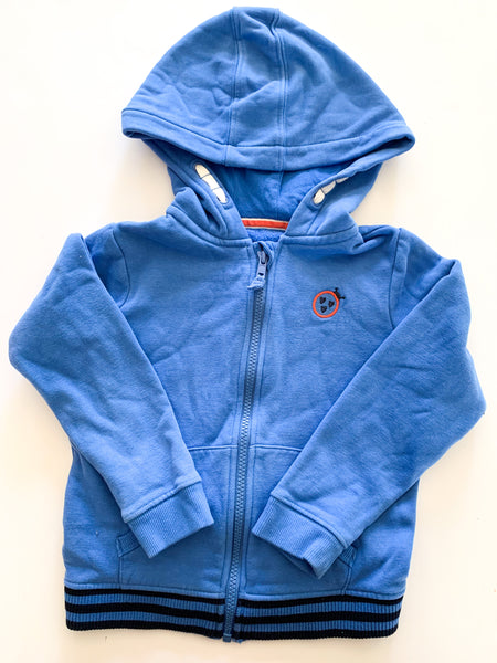 M&S  blue hood zip up ( size 5/6)