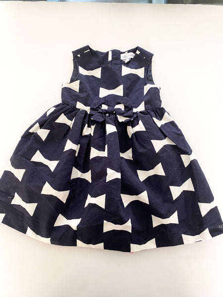 Kate spade navy bow dress w/pink tulle ( size 3)