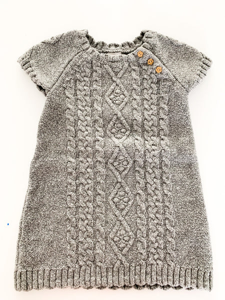 HM grey cable knit dress (9-12 months)