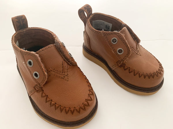 Toms brown leather booties (size 4)