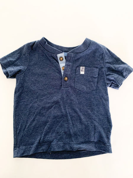 Carters blue 3 button shirt (6 months )