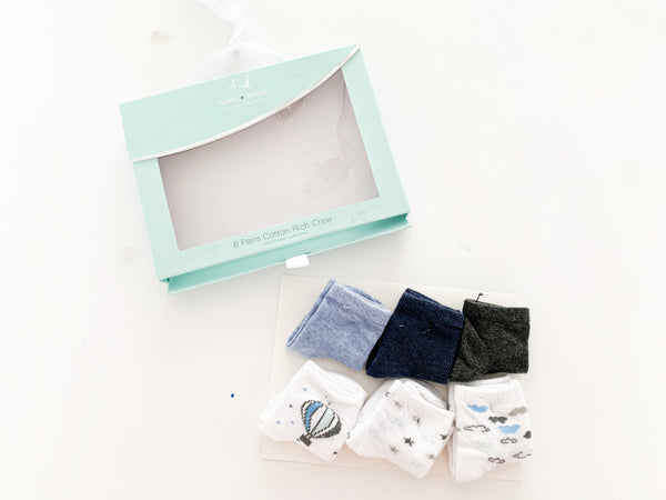 Aden & anais 6 pack of socks (new in box)